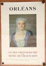 MUSEE DES BEAUX-ARTS D'ORLEANS Affiche ancienne PERRONNEAU Vintage Art poster