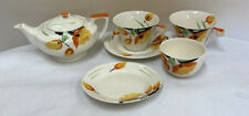 Myott Son & Co Art Deco Hand Painted Part Tea Set (D2)