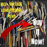 Vintage Lot Of 180+ Advertising Ball Point Pens And Pencils (Havasu Surplus)