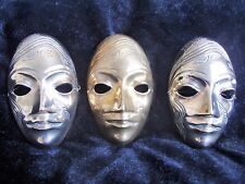 """ONE Fantastic vintage Brass mask approx 5"""" x 3"""""""