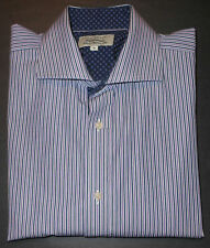 TED BAKER ENDURANCE MULTI COLOR FINE STRIPES F/C DRESS SHIRT. TBK7015