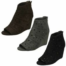 High Heel (3-4.5 in.) Spotted Textile Boots for Women