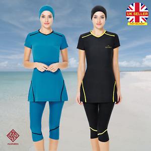 AlHamra AL3023 Capri Modest Burkini Swimwear Swimsuit Muslim Islamic Costumes UK