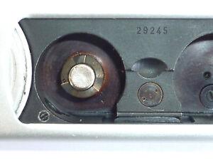 Frühe Minox A vom 1950 mit Hilfsloch in Filmschacht incl. Messkette + Etui