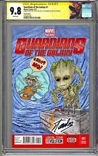 GUARDIANS OF THE GALAXY #1 CGC SS 9.8 STAN LEE SKETCH GROOT & ROCKET BY S. LYDIC