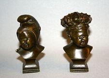 "Buste mini en bronze ""Jean qui rit, Jean qui pleure"""