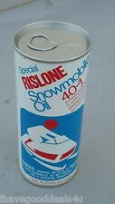 VINTAGE SHALER RISLONE SPECIAL SNOWMOBILE OIL 40-1 STEEL CAN FULL VIVID COLORS