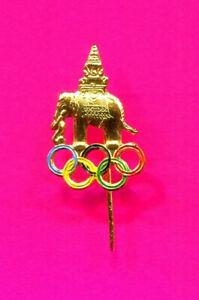 THAILAND OLYMPIC NOC PIN VINTAGE GOLD STICK PIN RARE PIN
