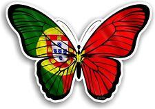 Beau papillon design & portugal portugais pays drapeau vinyle autocollant voiture