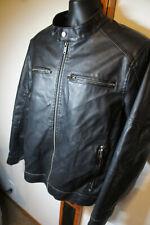 CLEAN Vintage Guess Black Leather Throat Tab Cafe Motorcycle Racer Vtg Jacket 19