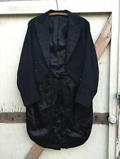ANTIQUE TAILCOAT 1929 black asymmetrical tail coat tuxedo tux jacket unisex goth