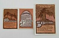 PENZLIN REUTERGELD NOTGELD 10, 25, 50 PFENNIG 1922 NOTGELDSCHEINE (12000)
