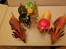 Large Lot of 5 Vintage Imperial 1980's Plastic Toy Dinosaurs Rraaawwrrrrrr!