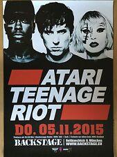 ATARI TEENAGE RIOT 2015 MÜNCHEN - orig.Concert Poster -- Konzert Plakat  A1 NEU