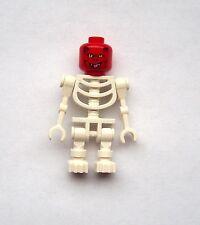 Lego 2 x Skeleton White roterteufel Head Red Devil Mini Figurine Fantasy