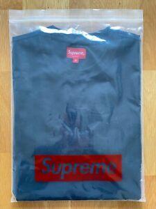 Supreme Chenille Arc Logo Box S/S Top Black Medium FW19 Brand New Authentic