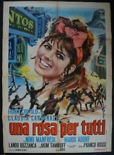 manifesto 2FG UNA ROSA PER TUTTI CLAUDIA CARDINALE BUZZANCA MANFREDI  ROSSI