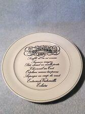 "Antique Vintage Pillivuyt France 9-5/8"" Dinner Plate Menu Cavalcade XLNT Cond"