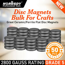 50pc Round Magnets Ceramic Disc Strong Craft Flat Circle Thick Fridge Whiteboard