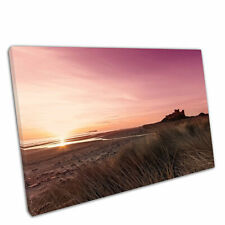 ENGLAND  BAMBURGH CASTLE View Canvas Wall Art Picture Large SIZES L82  MATAGA
