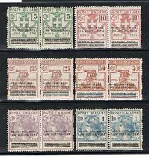 REGNO 1924 PARASTATALI MUTILATI INVALIDI GUERRA SOPRASTAMPATI IN COPPIA ** 70/75