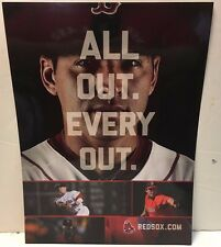 2013 Boston Red Sox Fenway Park Poster All Out-Every Out Koji Pedroia