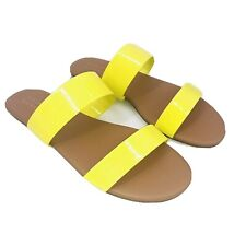 LC Lauren Conrad Firefli Womens Sandals Size 7 Yellow Slip On Shoes Straps NEW