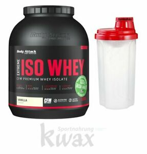 (27,11 Euro/Kg) Body Attack Extreme Iso Whey Professional 1800g 1,8Kg + Shaker