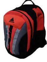 Adidas Load Spring Backpack XL New Neon Orange Black Silver Padded Large Pockets