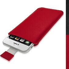 """Rojo Cuero Funda Bolsa Carcasa para Apple iPhone 7 6S 6 4.7"""" Piel Case Cover"""