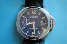 Panerai Luminor Marina 1860 40mm azul Esfera