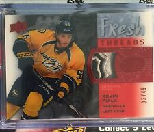 2015-16 Ice SHIELD Kevin Fiala Patch /49 Upper Deck Rookie Fresh Threads RC !