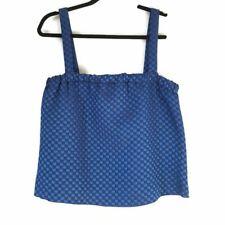 NWT Armani Collezione black blue basket weave crop top women's size 10