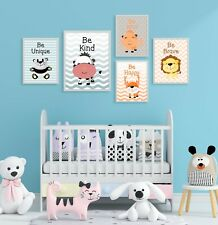 Cute Nursery Prints & Posters - Motivational Animals For Young Children / Babies