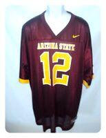 Arizona State Sun Devils NCAA Football Jersey Maroon 12 Maroon Neck