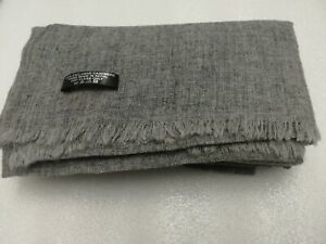 Cashmere Pashmina Scarf Handwoven Nepal Shawl unisex scarf Muffler dark grey