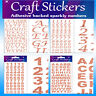 Rose Gold Craft Stickers Letters Alphabet Numbers Bold Wedding Embellishment NEW