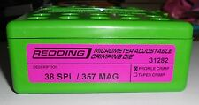 31282 REDDING MICRO-ADJUSTABLE PROFILE CRIMP DIE - 38 SPL/357 MAG - BRAND NEW