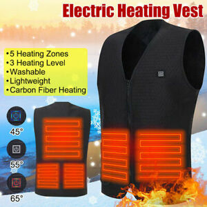 Heated Vest Winter Warm Body Electric USB Jacket Men Women Heating Coat Thermal