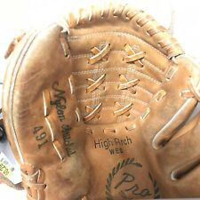 "Vintage 10"" McGraw RHT High Arch Web Baseball Glove Pro Model  Genuine Leather"