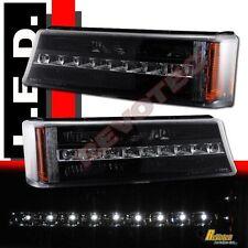 03-06 Chevy Silverado Avalanche 1500 2500 Pickup Black LED Bumper Signal Lights