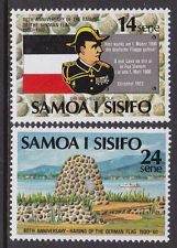 1980 Samoa 80th Anniversary of Raising of The German Flag - MUH Complete Set