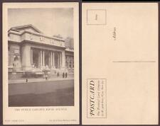 Usa New York City. Public Library. Fifth Avenue, old Ppc