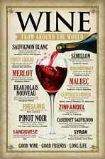 Wine From Around the World Poster Print 24x36 PS9565