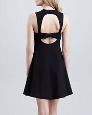 New Black Red Valentino A-Line Knit Dress with Open B Size S Eur $595+