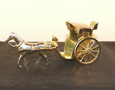 Plastic and Metal Horse and Coach Made in England (5834)