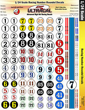 MG 3400 - 1/24 High Def Racing Decals Racing Number Roundels