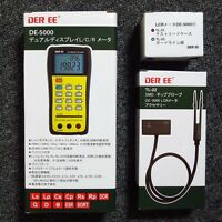 DER EE DE-5000 High Accuracy Handheld LCR Meter  w/ TL-21 TL-22 New F/S Tracking