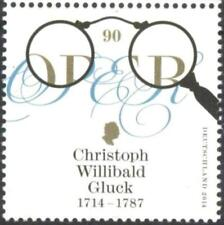 Mint stamp Music Christoph Gluck Composer 2014 from  Germany   avdpz