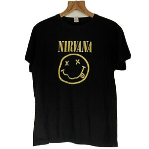 Classic Nirvana T Shirt Smiley Face Vintage Anbor Tag Size M